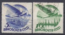 RUSSIE - 1934 - P. Aérienne N° 41/42 A - Oblitérés - B/TB -