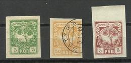 BATUM Batumi RUSSLAND RUSSIA 1919 Michel 1 & 3 & 6 */o