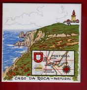 1 Carreau 15 X 15 X 0,5 Cm Cabo Da Roca - Ceramics & Pottery