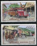 FRENCH POLYNESIA 2011 Transport Car Vehicles Horses Horse Dog Animals Fauna MNH - Neufs