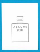 Cartes Parfumées Carte CHANEL ALLURE  HOMME SPORT De CHANEL - Cartes Parfumées