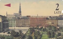 Latvia, M-012, 2 Ls, Riga, Aspazijas Boulevard,  2 Scans. - Latvia