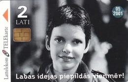 Latvia, S-009, Hansabank-2, Woman, 2 Scans. - Latvia