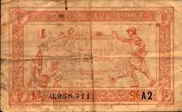 FR ANCE Trésorerie Aux Armées 1 FRANC Lettre A2 - Treasury