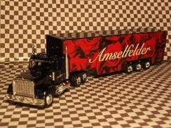 Miniature 1/87-HO- Camion US Peterbilt 389 /publicité Vin Amselfelder - Echelle 1:87