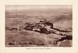 ALGERIE, ORANIE: LA HAUTE PLAINE DE SEBDOU, Planche Densité = 200g, Format 20 X 29 Cm, (Moreau) - Géographie