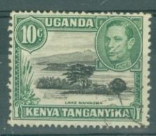 K.U.T.: 1938/54   KGVI    SG135    10c   Black & Green  [Perf: 13 X 11¾]    Used - Kenya, Uganda & Tanganyika