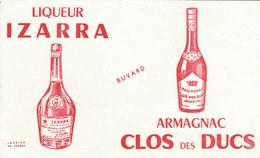 Buvard Liqueur IZARRA - Armagnac - Liquor & Beer