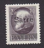 Saar, Scott #36, Mint No Gum, Bavarian Stamp Overprinted, Issued 1920 - Unused Stamps