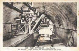 Paris Souterrain, Les Egouts - La Drague Diderot Servant Au Désensablement - Carte Non Circulée - Loten, Series, Verzamelingen