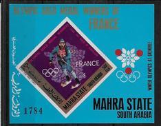 Mahra State Bloc ND/imperf/B JO H68 ** - Winter 1968: Grenoble