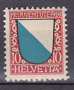 N° 177 Armoiries De Cantons:Zurich: Timbre Neuf Trace De Charnière - Nuovi