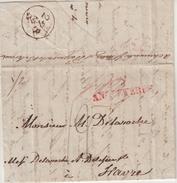 """ECOSSE : DE DUNDEE . POUR LE HAVRE . AU VERSO . """" ACHEMINEE PAR MESSIEURS PORGENCONT ET BEHRAUX . 1824 . - Europe (Other)"""