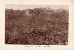 ALGERIE, GRANDE KABILIE: VUE SUR LE DJURDJURA, Planche Densité = 200g, Format 20 X 29 Cm, (Moreau) - Géographie