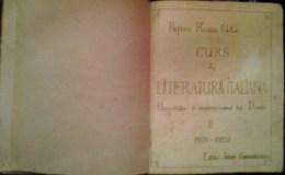 ROMANIA-ITALIAN LITERATURE CLASS-LITHOGRAPHIC,1920 PERIOD,ROMANIAN VERSION - Books, Magazines, Comics