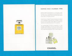 Cartes Parfumées Carte CHANEL N°19 De CHANEL   RECTO VERSO - Cartes Parfumées