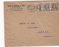 2662  Carta Belgica  Bruxelles, Brussel 1926  Flamme, Utilizar Sellos Anti - Tuberculosos, - Bélgica