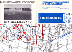 Fietsroute Landkaart - Nr 1 - Meetjesland - Cartes Routières
