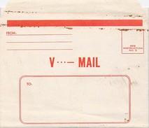 Lettre V... Mail Formulaire Réservé à L'armée US Débarquement - Postmark Collection (Covers)
