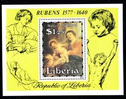 Liberia MNH 1984 #998 Souvenir Sheet $1.25 Madonna - Rubens - Liberia