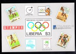 Liberia MNH 1988 #1081 Souvenir Sheet $3 1988 Seoul Olympic Games - Liberia