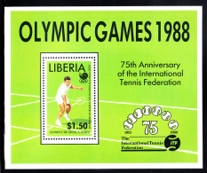 Liberia MNH 1988 #1096 Souvenir Sheet $1.50 Return Of Tennis As Olympic Medal Sport - Liberia