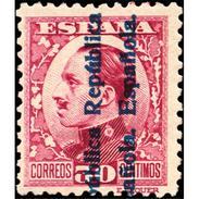 ES599STV-LFT***599STAN.Spain.Esgane.,Rey ALFONSO Xlll,sobrecargado Republica Española.1931 (Ed 599**) - 1889-1931 Reino: Alfonso XIII