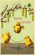 EASTER - 3 CHICKS SKIPPING - Easter