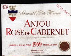 ETIQUETTE ANJOU ROSE DE CABERNET 1969 - Rouges