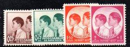 EU187 - YUGOSLAVIA 1937 , Serie 306/309  ***  Pro Infanzia - 1931-1941 Regno Di Jugoslavia