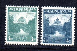 EU199 - YUGOSLAVIA 1937 , Serie 311/312  ***  Piccola Intesa - Nuovi