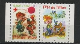 FRANCE- JOURNÉE DU TIMBRE 2002 EN PAIRE- N° Yvert P3467A ** - France