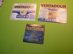 Etiquettes Eau VENTADOUR - Sources Du Pestrin - Ardèche - Autres