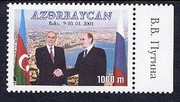 AZERBAIJAN 2001 Visit Of President Putin MNH / **.  SG 516 - Azerbaïjan