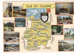 25995 Ille Et Vilaine  (35) Ed Dubray Conches -G85 - Carte Blason Multivues