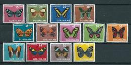 1972 Suriname Complete Set Vlinders,butterflies,schmetterlinge,papillon MNH/Postfris/Neuf Sans Charniere - Surinam ... - 1975