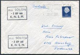 1969 Netherlands Holland Amsterdam M/S SOLON Ship Cover - Period 1949-1980 (Juliana)