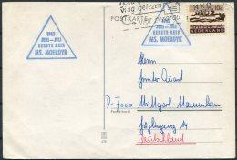1965 Netherlands Holland Ship Card. M.S MOERDYK - Period 1949-1980 (Juliana)