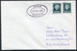 1991 Netherlands Holland Ship Cover. Rotterdam NORSUN - Period 1980-... (Beatrix)