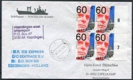 1991 Netherlands Holland Ship Cover. M.V. ICE EXPRESS Vlaardingen Oost Ship Repair. - Period 1980-... (Beatrix)