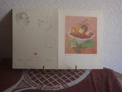 FONT ROMEU - MENU  FESTIVAL INTERNATIONAL DE LA SARDANE - 1960 - SIGNE - Menus