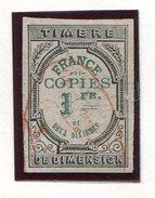 FRANCE- Timbre Copies Y&T N°2 De 1873- Oblitéré - Fiscaux
