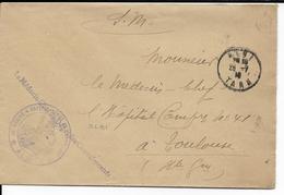 1916 - HOPITAL DEPOT DE CONVALESCENTS - ENVELOPPE De ALBI (TARN) Pour TOULOUSE - Guerra Del 1914-18