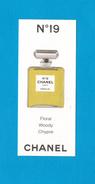 Cartes Parfumées Carte CHANEL N°19  De CHANEL - Perfume Cards