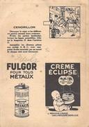 Publicité: Découpage, Image à Découper Carton - Fulgor Pour Tous Métaux - Cendrillon - Publicités