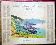 CALENDRIER ALMANACH DES POSTES PTT 1930 SOUS LE TIR AUX PIGEONS   DEPARTEMENT DRS BASSES ALPES POSTES TELECOMMUNICATION - Big : 1921-40