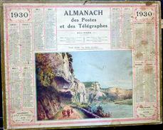 CALENDRIER ALMANACH DES POSTES PTT 1930 LES EYDES   POSTES TELECOMMUNICATION - Big : 1921-40