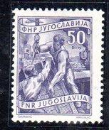 EU332 - YUGOSLAVIA 1950, 50 D. N. 560A  *  Ordinaria - 1945-1992 Repubblica Socialista Federale Di Jugoslavia