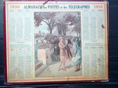CALENDRIER ALMANACH DES POSTES PTT 1930 LES QUAIS A PARIS  DEPARTEMENT DU RHONE   POSTES ET TELECOMMUNICATION - Big : 1921-40