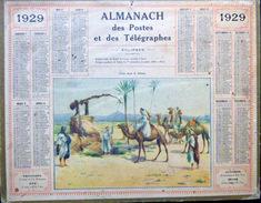 CALENDRIER ALMANACH DES POSTES PTT 1929 PUITS DANS LE ZIHAM  DEPARTEMENT DE HAUTE LOIRE   POSTES ET TELECOMMUNICATION - Big : 1921-40
